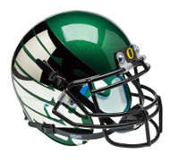 Oregon Ducks Authentic Schutt Mini Football Helmet - Green with Chrome Wings