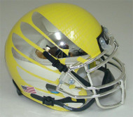 Oregon Ducks Authentic Schutt Mini Football Helmet - Yellow with Chrome Wings