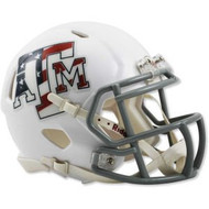 Texas A&M Aggies Alternate Red White and Blue NCAA Riddell SPEED Mini Helmet