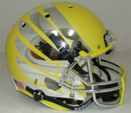 Oregon Ducks Carbon Fiber Yellow Wing Schutt Full Size Replica XP Football Helmet