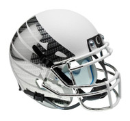Oregon Ducks Carbon Fiber White Wing Schutt Full Size Replica XP Football Helmet