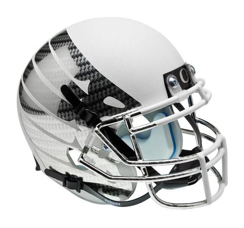 Oregon Ducks Carbon Fiber White Wing Schutt Full Size Replica XP Football Helmet