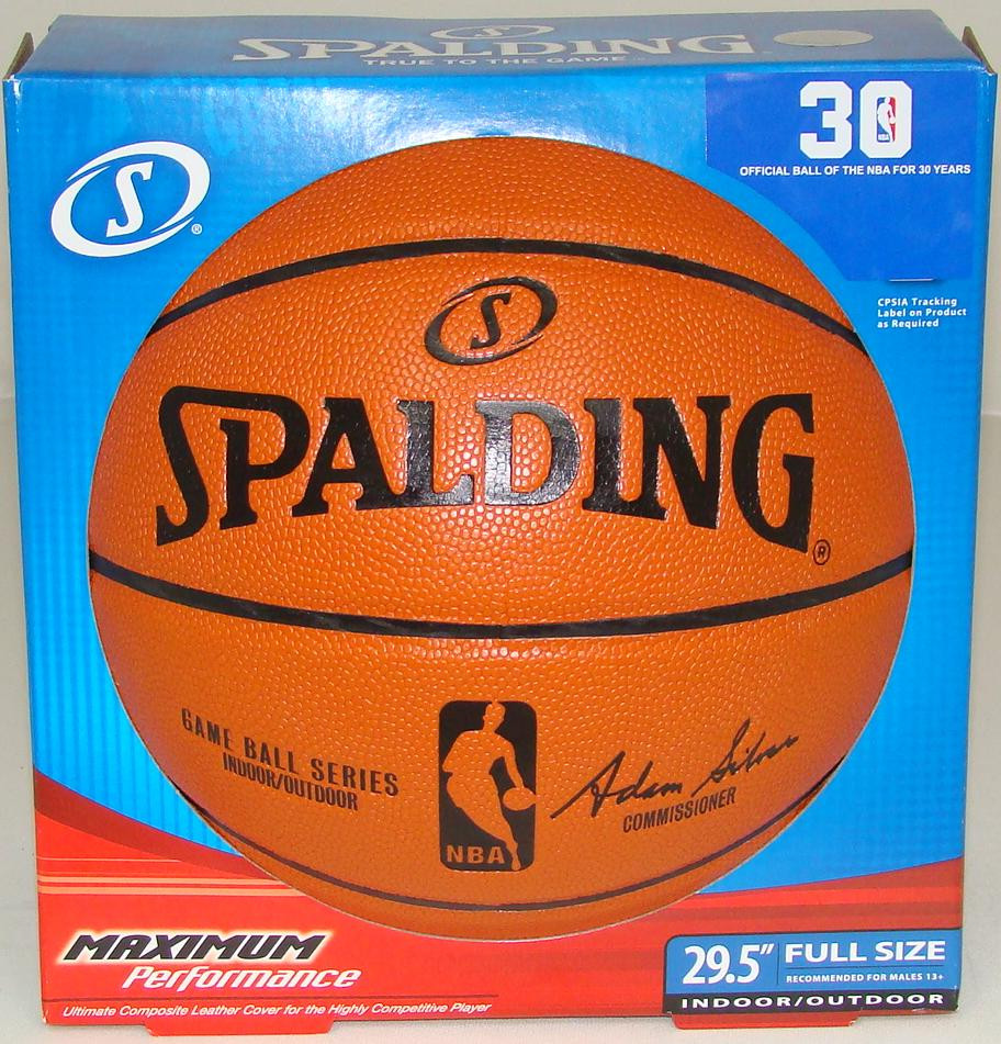 Spalding NBA Replica Game Ball Basketball (Full Size 29.5