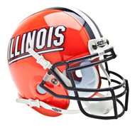 Illinois Fighting Illini Schutt Mini Authentic Football Helmet