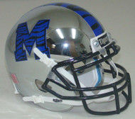 Memphis Tigers Chrome Alternate Schutt Mini Authentic Football Helmet