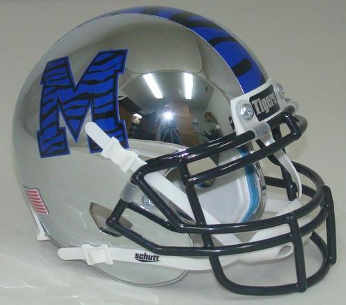 Memphis Tigers Chrome Alternate Schutt Mini Authentic Football Helmet