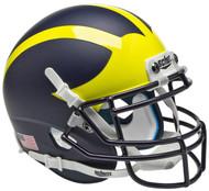 Michigan Wolverines Alternate Matte Schutt Mini Authentic Football Helmet