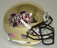 Mississippi State Bulldogs Alternate Gold Chrome Schutt Mini Authentic Helmet