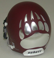 Montana Grizzlies Alternate Crimson Schutt Mini Authentic Helmet