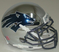 Nevada Reno Wolfpack Alternate Battle Born Chrome Schutt Mini Authentic Helmet