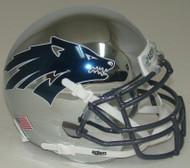 Nevada Reno Wolfpack Alternate Battle Born Chrome Schutt Mini Authentic Football Helmet