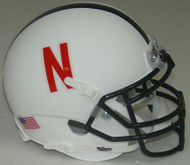 Nebraska Cornhuskers Alternate White Schutt Mini Authentic Helmet