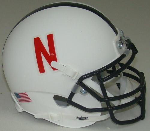 Nebraska Cornhuskers Alternate White Schutt Mini Authentic Football Helmet