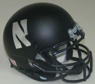 "Northwestern Wildcats Alternate Black ""N"" Schutt Mini Authentic Football Helmet"