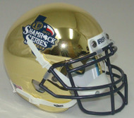 Notre Dame Fighting Irish Shamrock Series Texas 2013 CHROME Schutt Mini Authentic Football Helmet