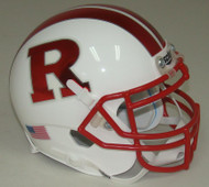 Rutgers Scarlet Knights Alternate WHITE with CHROME RED Schutt Mini Authentic Helmet