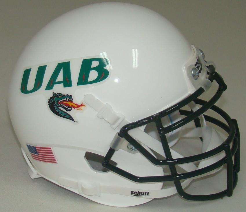 4ccb7645dab UAB Alabama-Birmingham Blazers Alternate White Schutt Mini Authentic  Helmet. Schutt · Image 1