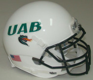 UAB Alabama-Birmingham Blazers Alternate White Schutt Mini Authentic Helmet