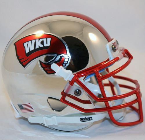 Western Kentucky Hilltoppers Alternate Chrome Schutt Mini Authentic Football Helmet