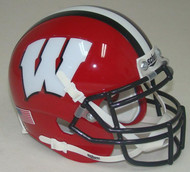 Wisconsin Badgers Alternate Red with Black Stripe Schutt Mini Authentic Helmet