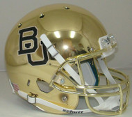 Baylor Bears GOLD CHROME Schutt Full Size Replica Helmet