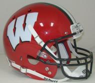Wisconsin Badgers Alternate RED with BLACK Schutt Full Size Replica Helmet