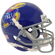 Kansas Jayhawks Blue Schutt Mini Authentic Helmet