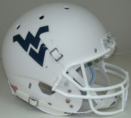 West Virginia Mountaineers Alternate Matte White Schutt Full Size Replica XP Football Helmet