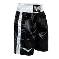 Standard Boxing Trunks - Bottom Of Knee (Black) - XL