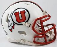 Utah Utes Alternate White Revolution NCAA SPEED Mini Helmet