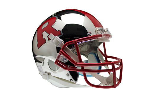 Rutgers Scarlet Knights Alternate Chrome with Red R & Stripe Schutt Full Size Replica XP Football Helmet