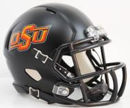 Oklahoma State Cowboys Alternate Black NCAA Riddell Speed Mini Helmet