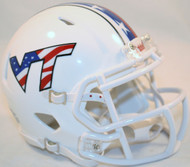 Virginia Tech Hokies Alternate Red White & Blue NCAA Riddell Speed Mini Helmet