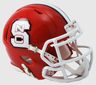 North Carolina State Wolfpack Alternate Red NCAA Riddell SPEED Mini Helmet
