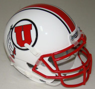 Utah Utes Alternate White Schutt Mini Authentic Helmet
