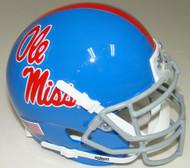 Mississippi (Ole Miss) Rebels Alternate Blue Schutt Mini Authentic Football Helmet