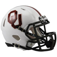 "Oklahoma Sooners Alternate White ""Bring the Wood"" NCAA Riddell Speed Mini Helmet"