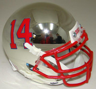 Fresno State Bulldogs Alternate Chrome Schutt Mini Authentic Football Helmet