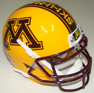 "Minnesota Golden Gophers Alternate Gold ""BRICK BY BRICK"" Schutt Mini Authentic Helmet"