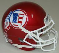 Utah Utes Alternate Red White & Blue Schutt Mini Authentic Football Helmet