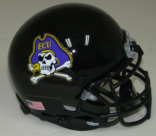 East Carolina Pirates Alternate 2 Jolly Roger Schutt Mini Authentic Football Helmet