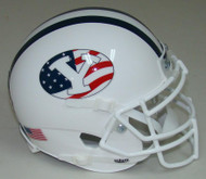 BYU Brigham Young Cougars Alternate Never Forget 9/11 Schutt Mini Authentic Helmet