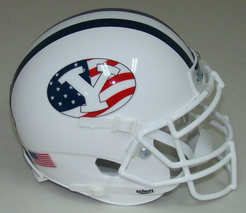 BYU Brigham Young Cougars Alternate Never Forget 9/11 Schutt Mini Authentic Football Helmet