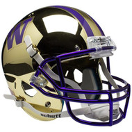 Washington Huskies Alternate Chrome Schutt Full Size Replica Helmet