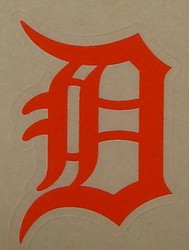 DETROIT TIGERS ORANGE FULL SIZE HELMET 3M STICKER DECAL