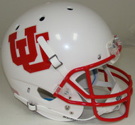 Utah Utes White Alternate 4 Schutt Full Size Replica Helmet