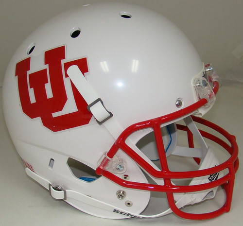 Utah Utes White Alternate 4 Schutt Full Size Replica XP Football Helmet