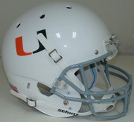 Miami Hurricanes White Alternate 2 Schutt Full Size Replica XP Football Helmet