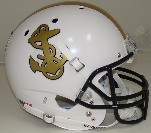 Navy Midshipmen Alternate White Schutt Full Size Replica XP Football Helmet