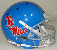 Mississippi (Ole Miss) Rebels Alternate Blue Schutt Full Size Replica XP Football Helmet